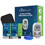 Our product review for Care Touch Diabetes Testing Kit – Care Touch Blood Glucose Meter, 150 Blood Test Strips, 1 Lancing Device, 30 Gauge Lancets-with Carrying Case