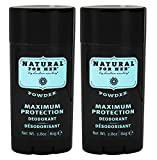 Herban Cowboy Woman's Natural Grooming Maximum Protection Deodorant, Powder Scent (Pack of 2) with Aloe Vera, Rice, Rosemary and Sage, Organic and 100% Vegan, Paraben and Aluminum Free, 2.8 oz each