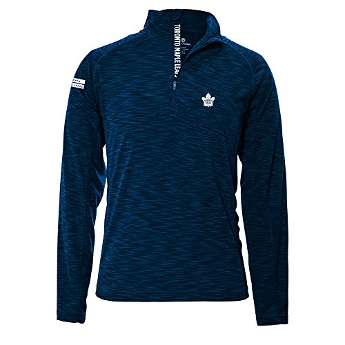 Toronto Maple Leafs Pullover - Levelwear LEY9R NHL Toronto Maple Leafs Men's Mobility Insignia Strong Style Quarter Zip Mid-Layer Apparel, Medium, Navy