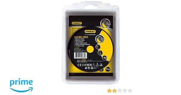 Stanley 460639 - Bobina de hilo de acero inoxidable (para soldadura MIG, 0,8 mm de diámetro): Amazon.es: Industria, empresas y ciencia