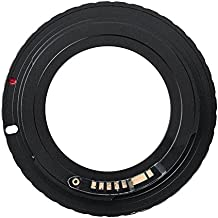 ALLCACA Professional M42-EOS Camera Adapter Durable M42 Lens Adapter Ring High-end Canon EOS EF Camera Adapter, Suitable for Canon Camera, Black
