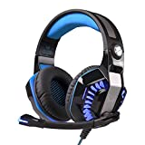 Docooler Noise Cancelling Game Headphone, KOTION EACH G2000 II Game Headset with Professional Microphone for Computer PC Games