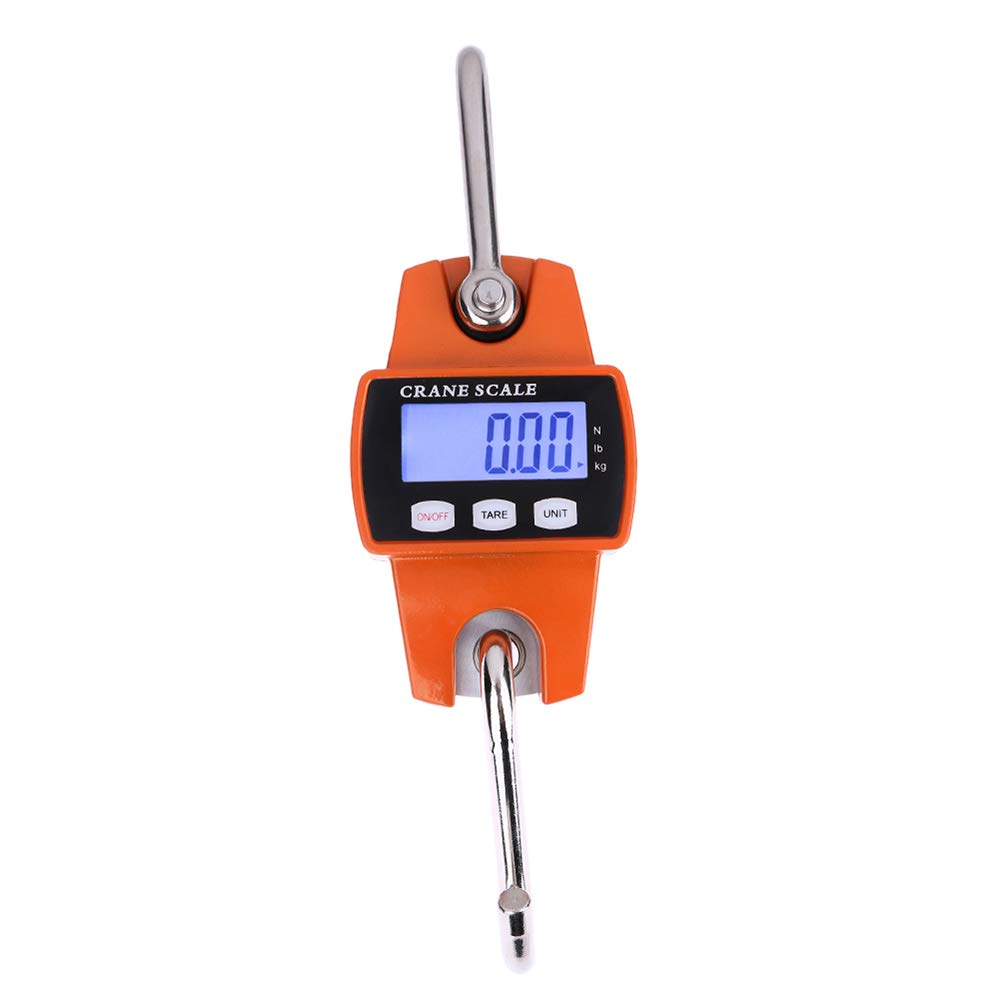 Digital Hanging Crane Scale 660Lb 300Kg Heavy Duty Industrial Crane Scales for Home Farm Factory, Hunting, Bow Draw Weight, Big Fish & Hoyer Lift
