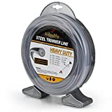 Anleolife Round Heavy Duty .095-Inch-by-190-ft Steel String Trimmer Line in Donut, Thicker Weed Eater