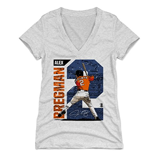 500 LEVEL Alex Bregman Women's V-Neck Shirt X-Large Tri Ash - Houston Baseball Women's Apparel - Alex Bregman Stadium B