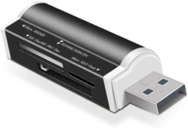 Multi-Function Card Reader Color : Black USB2.0 High Speed Card Reader Aishanghuayi Card Reader