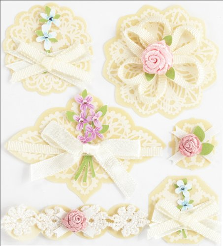 Jolee's Boutique Layered Doilies With Bows Dimensional Stickers