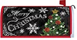 Merry Christmas Tree Mailbox Makover Cover - Vinyl with Magnetic Strips