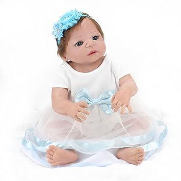Muñeca de aspecto realista de bebé recién nacido de LovelyBaby, muñeca de 55 cm, de silicona de vinilo suave, para regalo