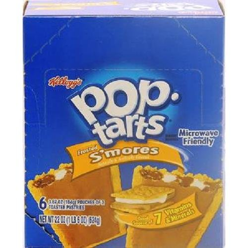 KELLOGGS POP TART FROSTED SMORES 3.67 oz Each ( 6 in a Pack )