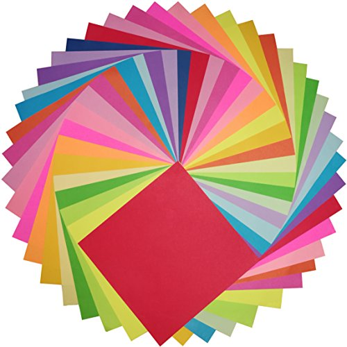 Origami Paper 6 Inches Square Double-Sided Colored 500 Sheets 20 Vivid Colors for Various of Hand - Shops Times Square