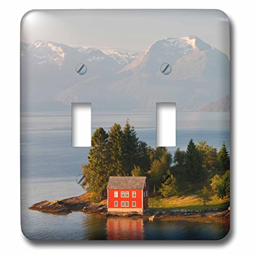 3D Rose LSP_227799_2 Small Island in Hardangerfjorden Near Bergen, Western Fjords, Norway Double Toggle Switch