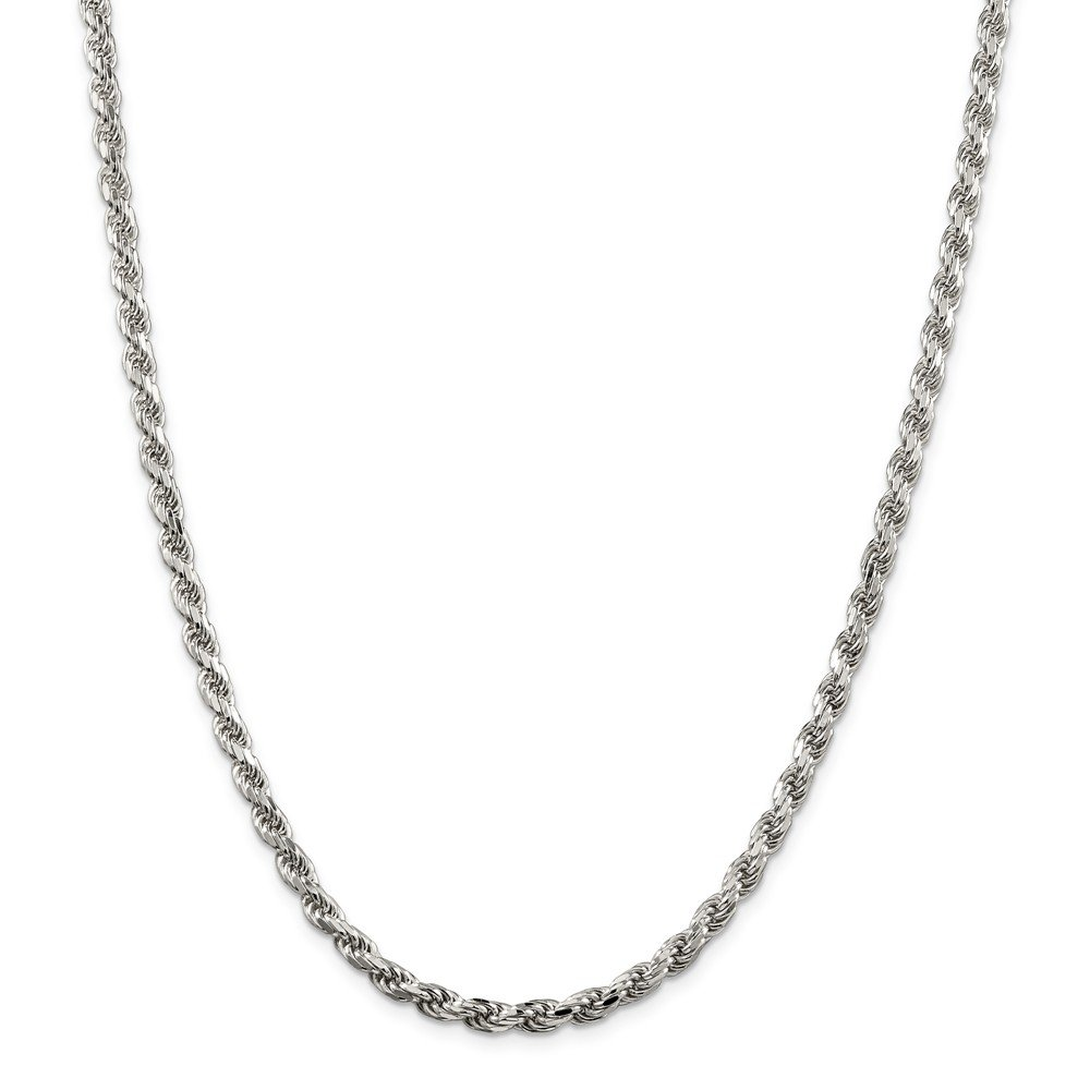 Beautiful Sterling silver 925 sterling Sterling Silver 4.75mm Diamondcut Rope Chain