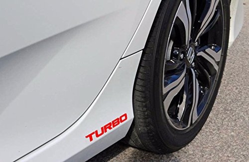 2x RED Turbo for 16 2016 + Honda - Canada Vinyl Sticker