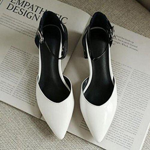 Rcxbdeo Zapatos Sandalia Muma Cinturón Word A Tacón Mujer Hebilla De tQdshCr