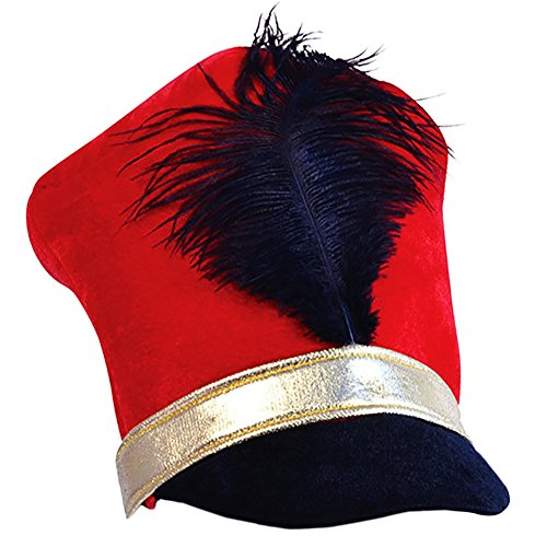 Tigerdoe Toy Soldier Hat - Drum Major Hat - Soldier Hat - Marching Band Hat - Nutcracker Hat - Toy Soldier Costume ()