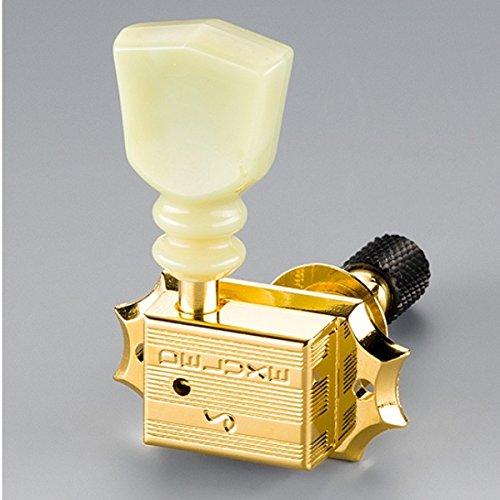(Schaller Machine Heads - Original G-Series Deluxe Keystone DR Toplocking Gold)