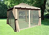 Greenbay 3x3M Aluminium Deluxe Luxury Pavilion Gazebo Awning Canopy Sun Shade Shelter Garden Party Tent