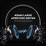 Mpow Thor Bluetooth Headphones Over Ear, 40mm Speaker Wireless Headset Foldable with Mic, Wired and Wireless Headphones for Cell Phone/ TV/ PC