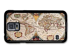 Old Geographic Antique Wold Map Illustration case for Samsung Galaxy S5 by icecream design