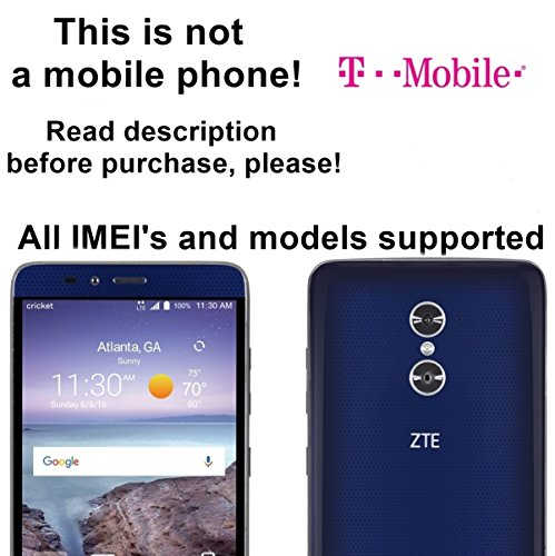 T-Mobile USA Unlocking Service for ZTE Blade V Max, Kis 3, Rio 3, Zmax Pro, Avid Plus, Obsidian, MAVEN and Other Models Which Ask For an Unlock Code - Make Your Device More Useful Than Before - Choose Any Carrier at Your Own at Any Time You Need - No Re-lock Lifetime Guarantee