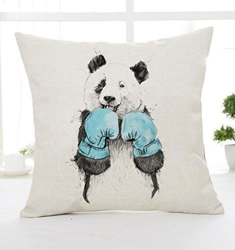 Amazon.com: Guantes de boxeo Panda algodón de lino, cuadrado ...