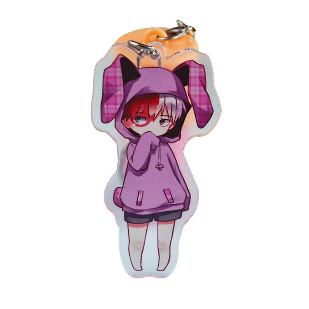 Wernerk My Hero Academia Todoroki Izuku Midoriya Deku Bakugou Katsuki Kirishima Eijirou Super Cute Key Chain 14 Types 1pcs Todoroki H05 Amazon In Office Products