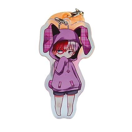 Wernerk My Hero Academia Todoroki Izuku Midoriya Deku Bakugou Katsuki Kirishima Eijirou Super Cute Key Chain 14 Types 1pcs Todoroki H05
