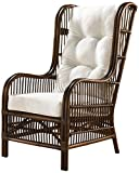 Panama Jack Sunrooms PJS-2001-ATQ-OC Bora Bora Occasional Chair with Cushion, Sunbrella Canvas Black