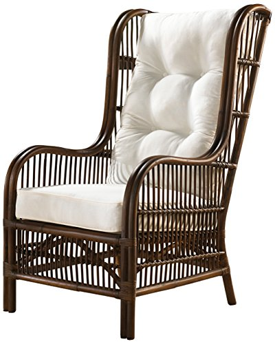 Panama Jack Sunrooms PJS-2001-ATQ-OC Bora Bora Occasional Chair with Cushion, Patriot Cherry