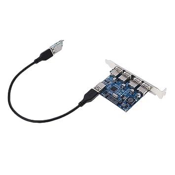 Shiwaki 4 Puertos USB 3.0 PCI-E Tarjeta De Expansión PCI-E ...