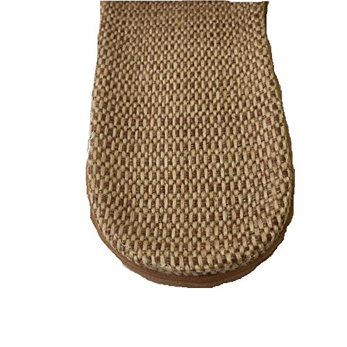 Flax Breathable For Homywolf toe Open House Summer Slippers Unisex Home Lightweight Slipper Brown Sandals wxt7Zxaq