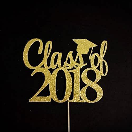 Amazon.com: Class of 2018 Cake Topper, Graduation Cake ...