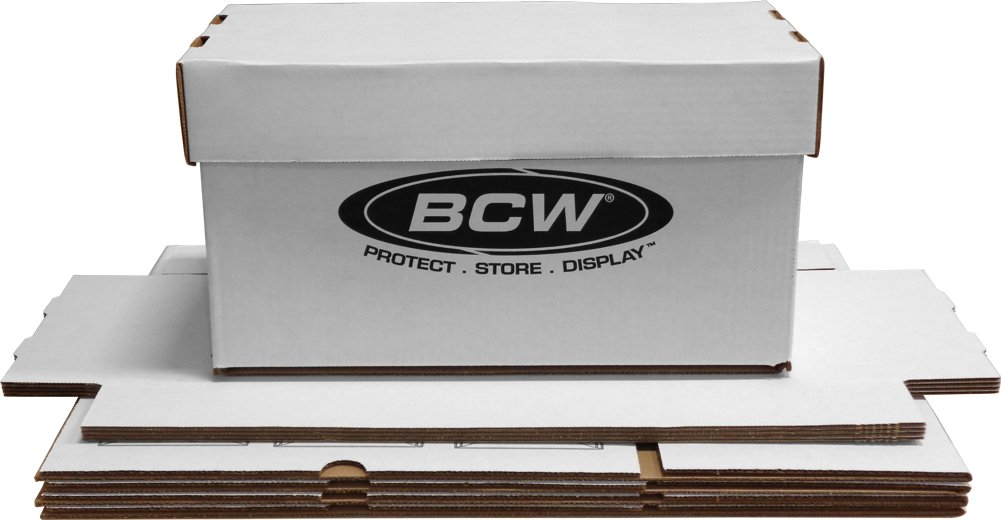 (5) BCW Brand 7'' Record Album Storage Box with Removable Lid - Holds Up to 150 Vinyl Records