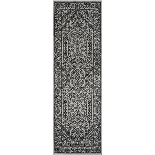 Safavieh Adirondack Collection ADR108A Silver and Black Oriental Vintage Medallion Runner (2'6 x 22') (Runner 22' Safavieh Rug)