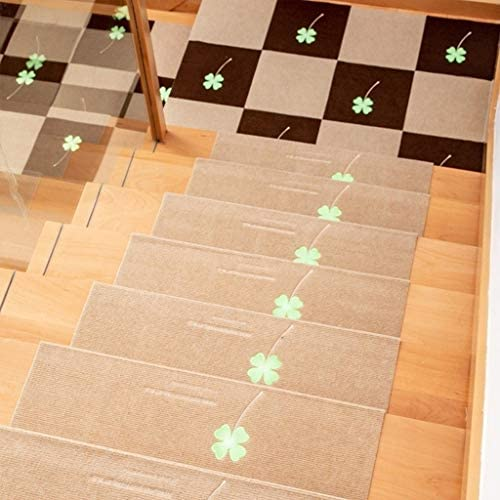 Moneda de goma antideslizante Escalera Treads8pieces hogar Escaleras alfombra de la estera de madera sólida luminosa antideslizante piso Mats Mats Pasos fluorescente (Color : A , Size : 70x26.5cm) : Amazon.es: Hogar