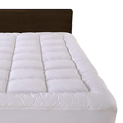 """Amazon.com: Cloudream King Overfilled Mattress Pad Cover 8 22""""Deep"""