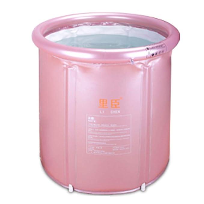 Bathroom Accessories El Barril cilíndrico baño de Adulto, casa Aislamiento Engrosamiento Gran bañera, un Plegable baño Cubo de plástico Cuerpo ZDDAB: ...