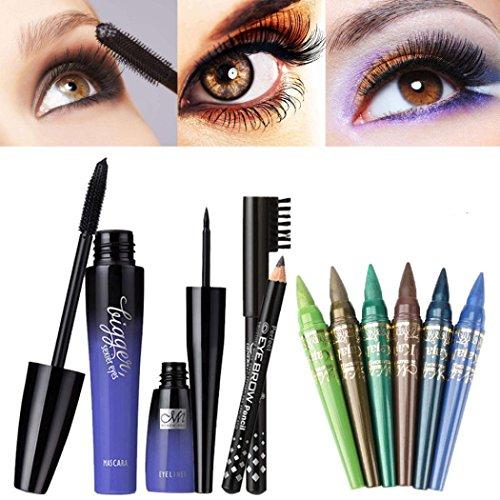 Alonea Make Up Set Waterproof Mascara + Liquid Eyeliner + Ey