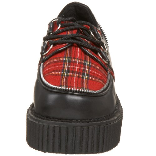 Demonia CREEPER-113 Blk Vegan Leather-Red Plaid UK 5 (EU 38) Bv0OGa5Xh
