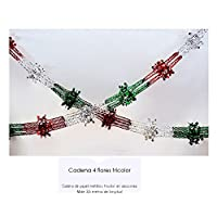 Cadena 4 flores tricolor/Four flowers chain threecolor