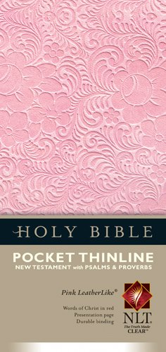 Pocket Thinline New Testament with Psalms & Proverbs NLT (Red Letter, LeatherLike, Pink) ()