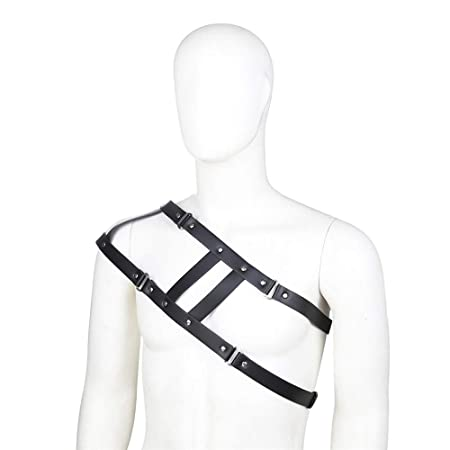 Arnés sujetador Cinturón de cuero de un solo hombro for hombre ...
