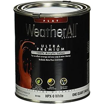 True Value Hpx9 Qt Premium Weatherall White Exterior Flat Acrylic Latex House Paint 1 Quart