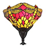 FBOSS 10 Inch Tiffany Style Yellow Dragonfly Wall Sconce Lamp