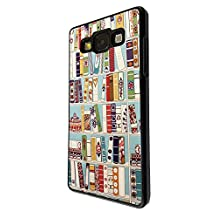 2234 - Vintage Retro Style Book Case Library Design For Samsung Galaxy A5 A500M - 2015 Fashion Trend CASE Back COVER Plastic&Thin Metal - Black