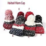 Apolonia Winter Women's Kawaii High Crochet Hat Knit Hat Beanie Hairball Warm Cap Outdoor for Youth Girls