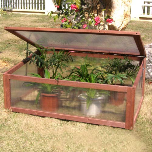 Garden Portable Wooden Green House Cold Frame Raised Plants Bed Protection