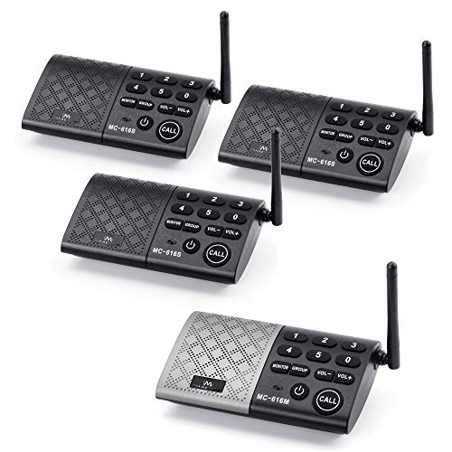 Portable Wireless Intercom System Real-time Two-Way Communication and Monitor 1000 feet Long Range DECT_6.0 Intercom System for Home and Office