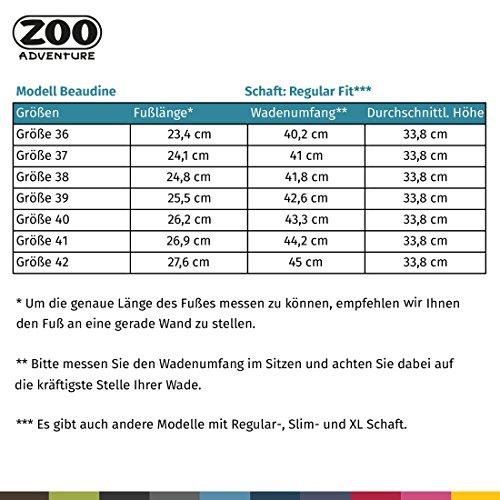 Zoo Avventura - Beaudine - Sistema Esterni Impermeabili E Stivali Invernali Di Cuoio Per Le Donne Brune 021